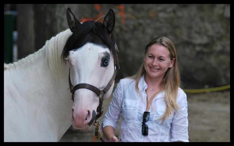 Flash et Marion au concours de Beaucaires en juillet 2008